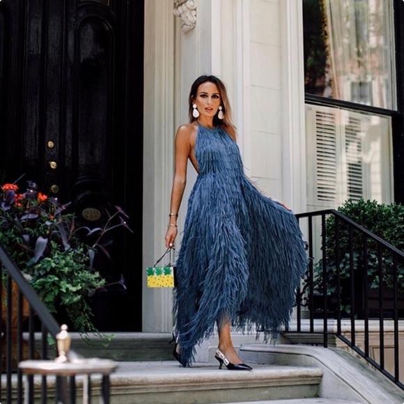 7ebe6996254 Zara Dresses   Fringe Halter Dress Nwt   Poshmark